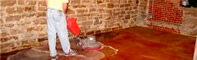 Neutralizing a stained floor