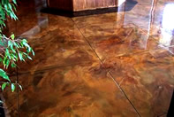 Stained living room floor