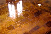 Brown Concrete Floor